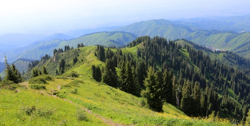 Natural sights of the Almaty reserve.