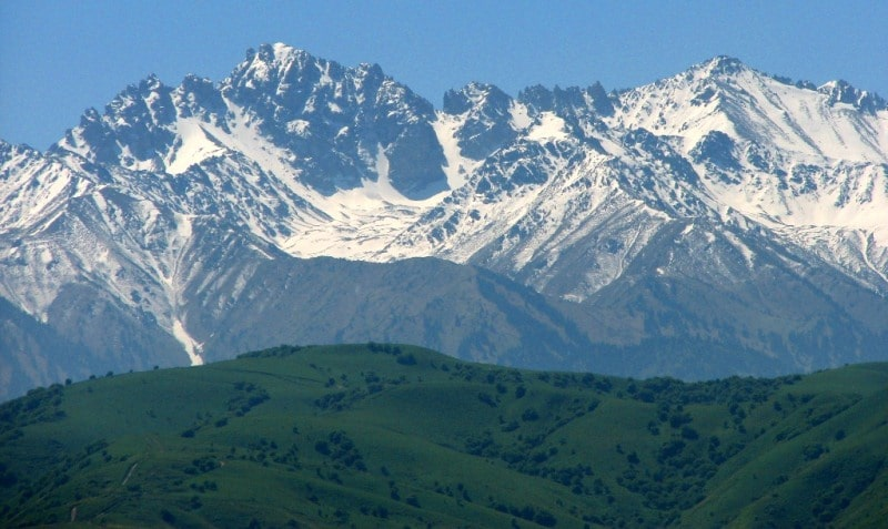 The environs of Almaty nature reserve.