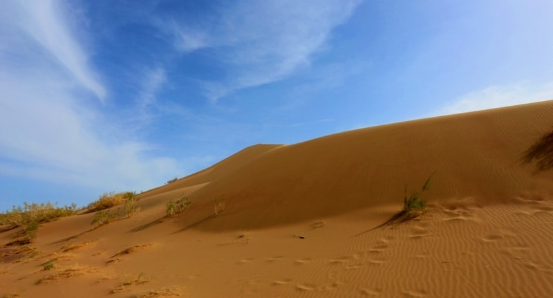 Singing dunes in Altyn-Emel park.