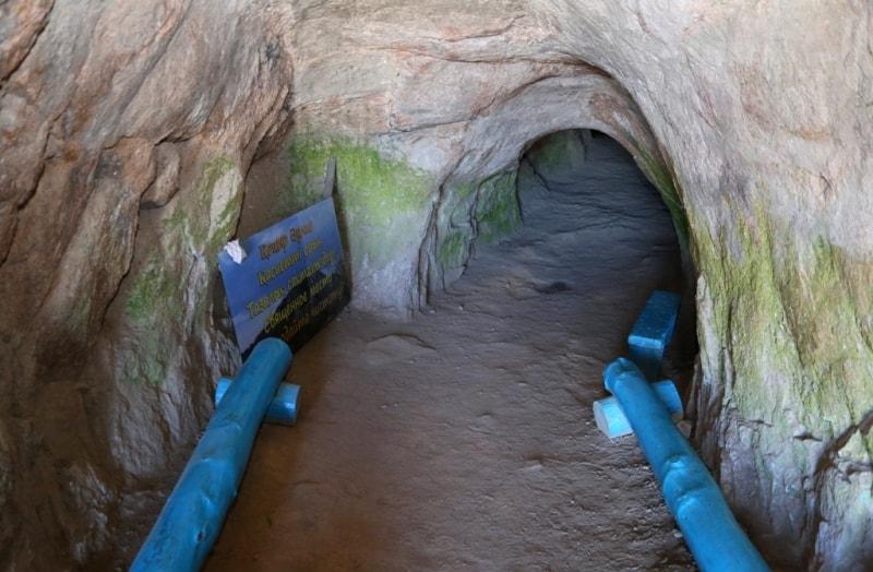В пещере Аулиетас.