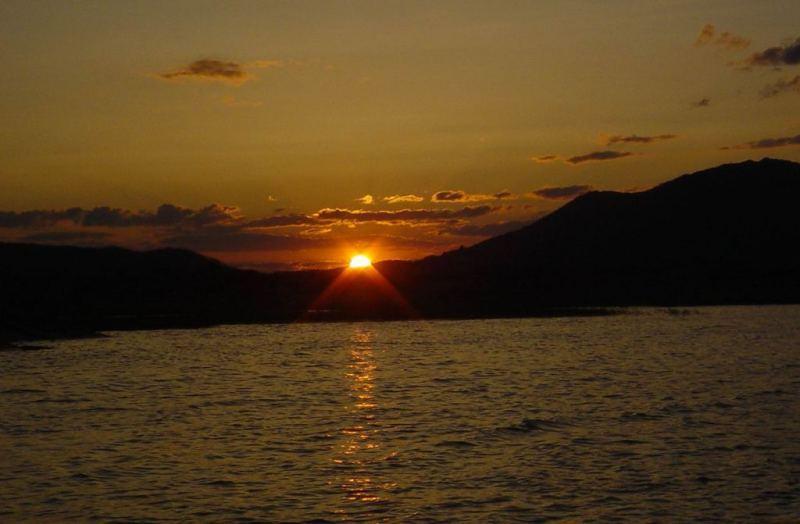 Закат на озере Сабандыколь.