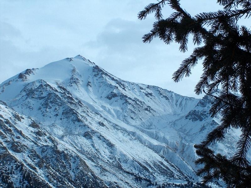 Peak Sovetov in Big Almaty gorge.