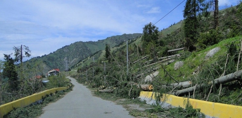 Hurricane mountains Almaty May, 2011.