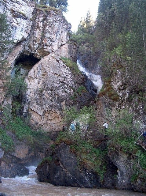 Waterfall Kairak in Turgen.