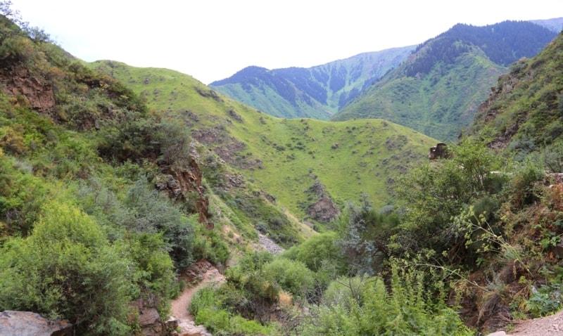 Окрестности водопада Медвежий в Тургеньском ущелье.