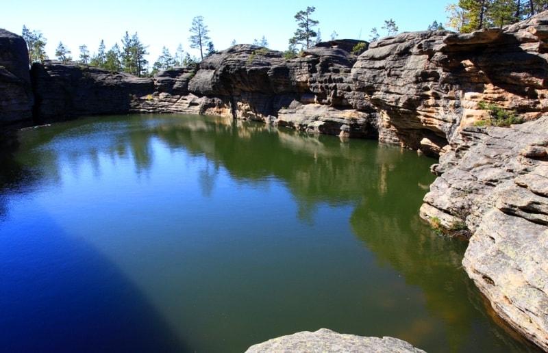 Bassein Lake in Karkaraly mountains.
