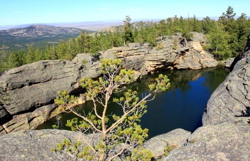 Озеро Бассейн в Каркаралинском парке.