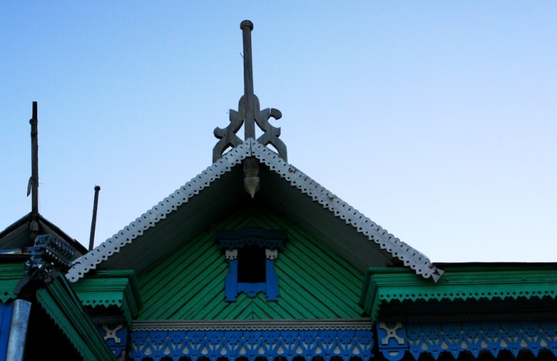 Дом лесничего в Каркаралинском парке.