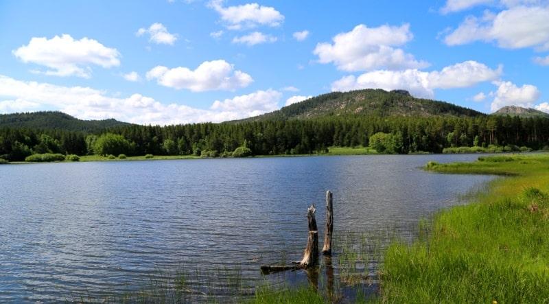 Sights of the Komissarov lake.