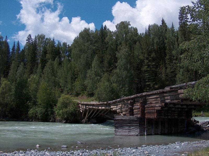 Мост на реке Белая Берель.