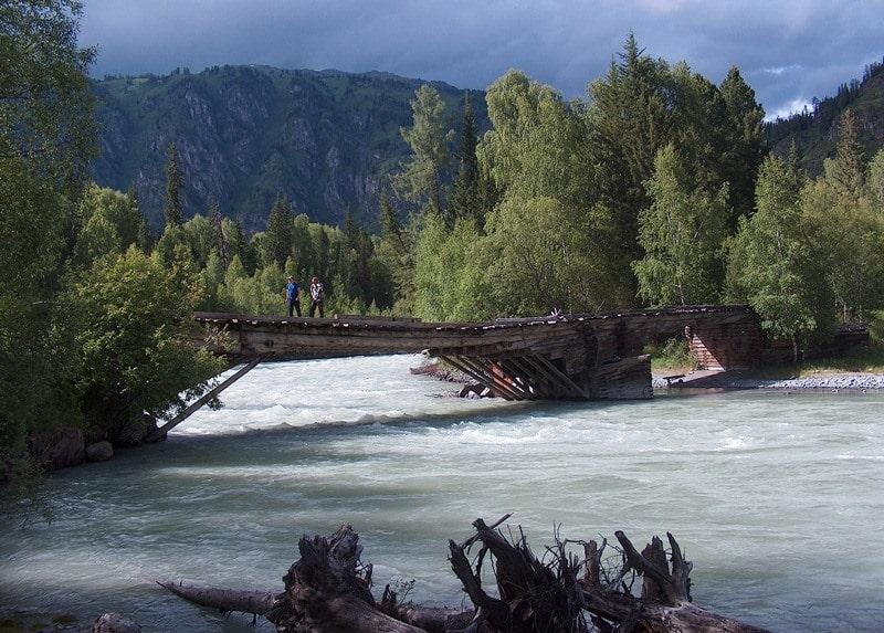 Мост на реке Белая Берель и окрестности.
