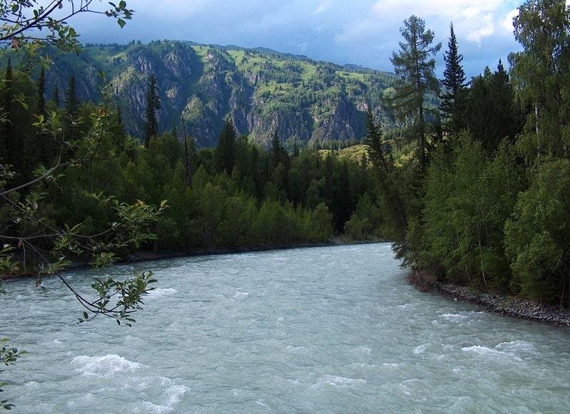 River Belay Berel and environs.
