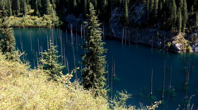 Kaindy lake.