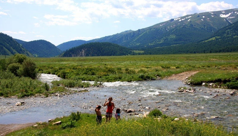 Environs in valley Monomakha Shapka in West Altai Nature Reserve.