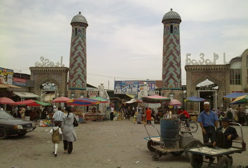Market in the town.