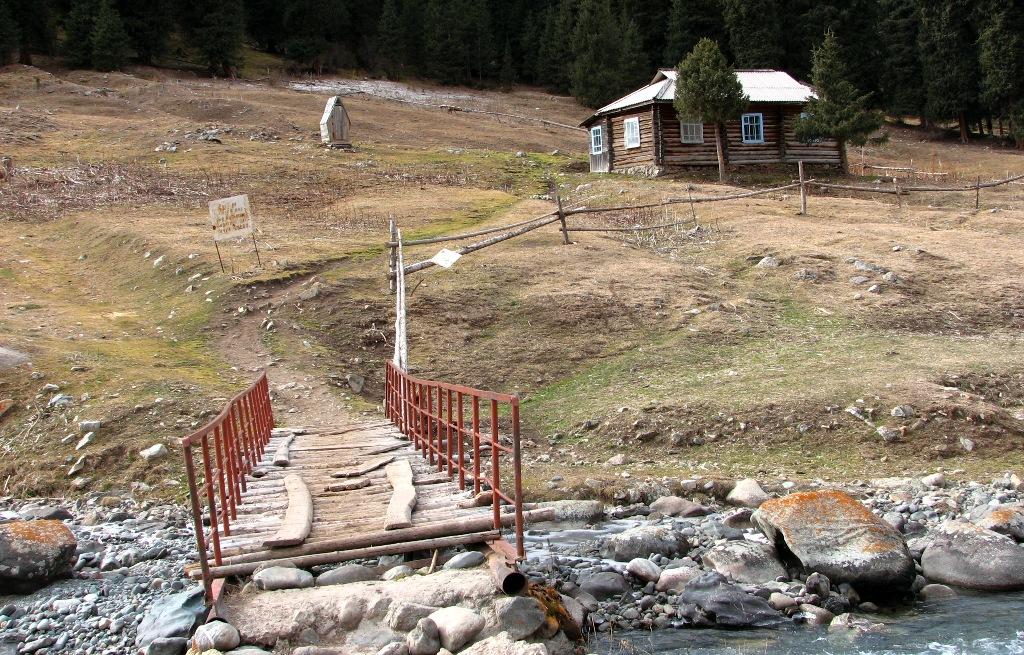 Health resort in gorge Altyn-Arashan.