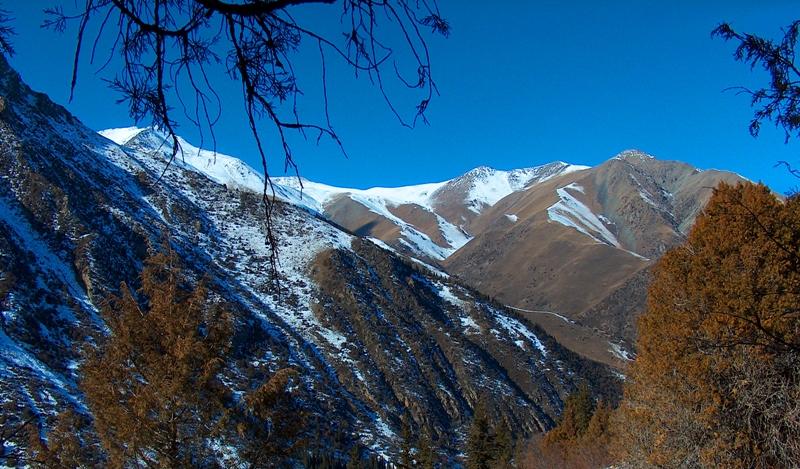 Горы Кыргызский Ала-Тоо в окрестностях ущелья Ала-Арча.