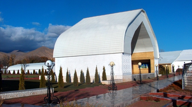 "Cultural center ""Ruh Ordo» name Chingiz Aitmatov is in the town of Cholpon-Ata."