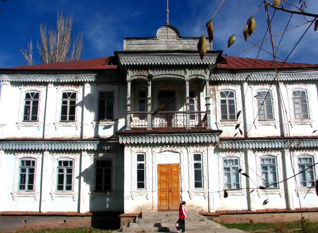 Architecture of ancient houses of Karakol.