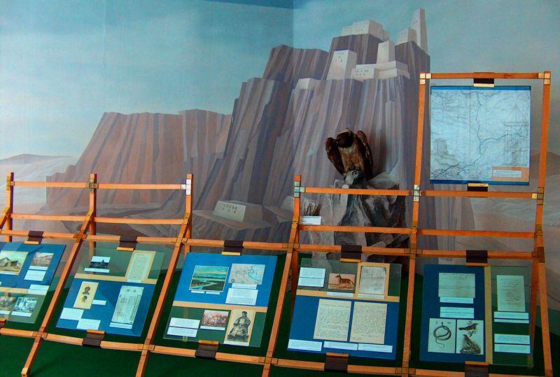 Зал Тибета в музее.