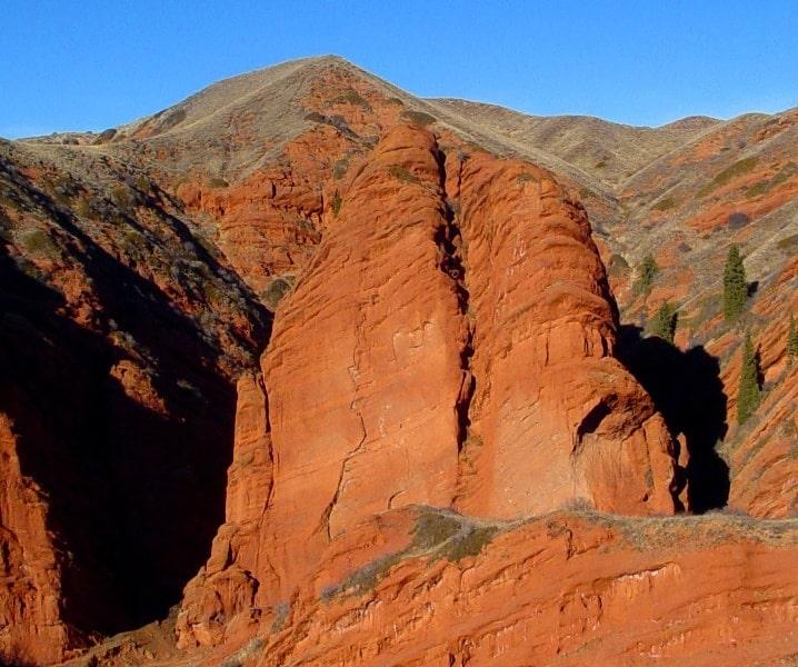 In the gorge of Dzhety-Oguz.