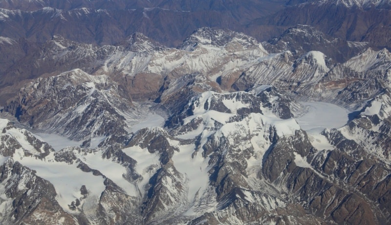The Central Tien-Shan mountains in Kyrgyzstan.