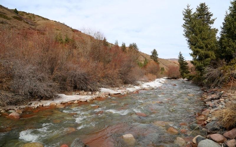 Река Джеты-Огуз и ее окрестности.