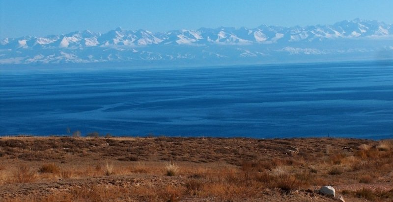 Lake Issyk-Kul.