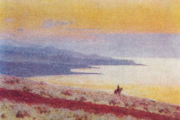 В. В. Верещагин. Озеро Иссык-Куль вечером. 1869 - 1870 г.г.