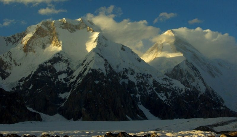Mountains of the Central Tien-Shan and environs of peak Pobeda.
