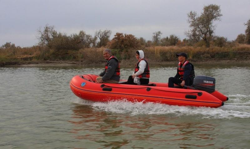Реки Центральной Азии. Прогулка по реке Сырдарья. Окрестности города Кызылорда.