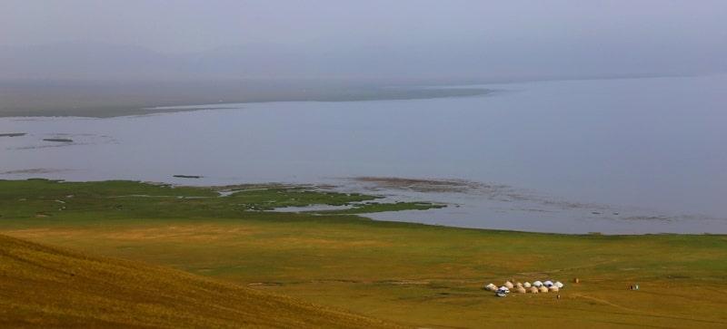 Sights the lake of Song-Kol.
