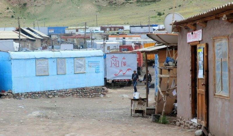 Кыргызская сторона перевала.