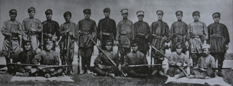 Participants of an expedition to Dzungaria. China.