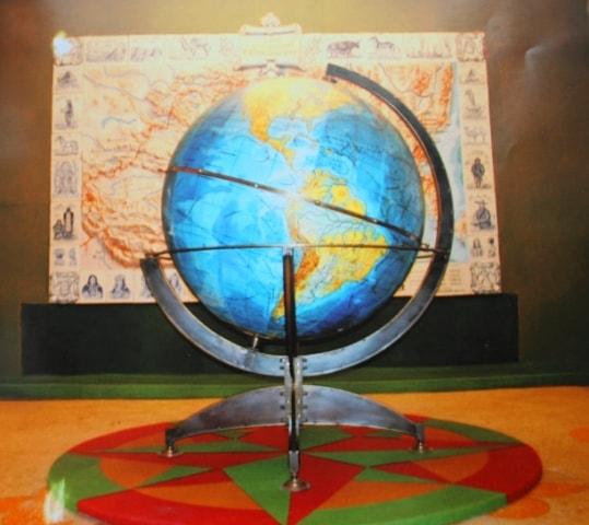 The globe in Przhevalsky's museum in Karakol.