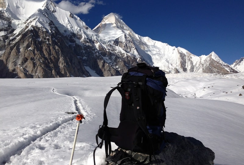 Ледник Южный Иныльчек и пик Хан-Тенгри.