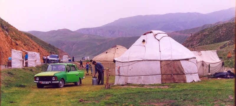 Yurts on pass Dolon.