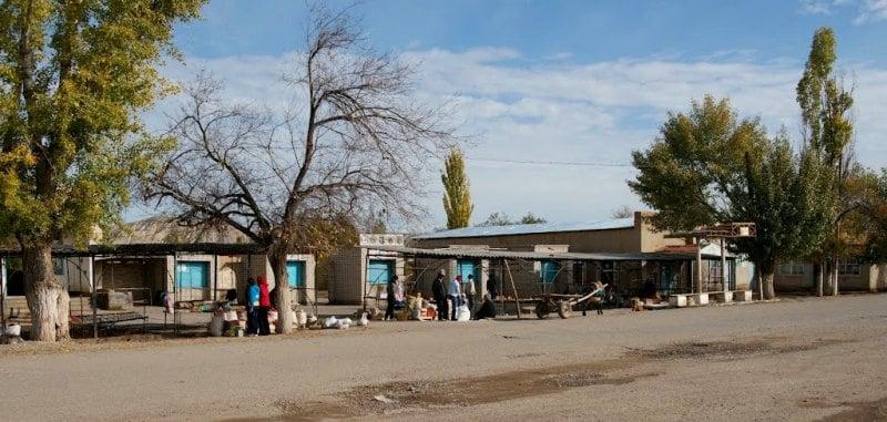 В поселке Баетово.