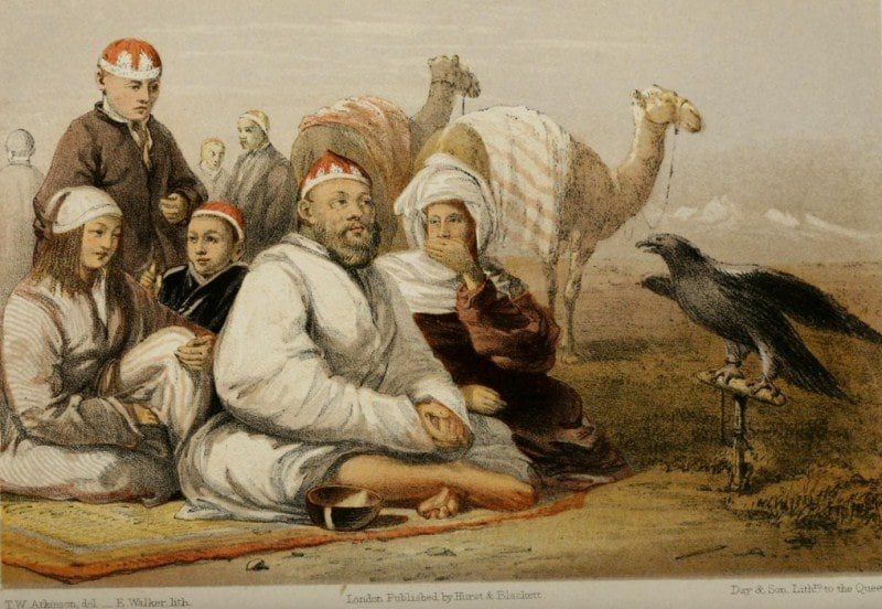 The writer Thomas Uitlam Atkinson traveled around Central Asia in the middle of the 19th century. Throughout all the trip it did sketches of the nature, locals and life.