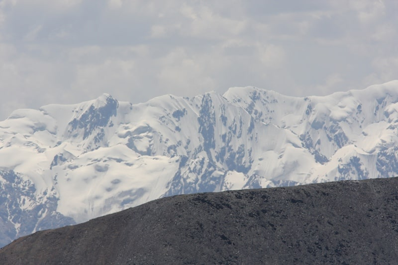 Environs of a glacier Southern Inylchek. The Central Tien-Shan.
