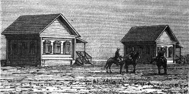 Узун-Ада. Дома железнодорожных служащих.
