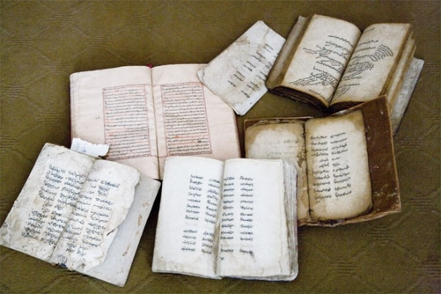 Collection of manuscripts of a museum.