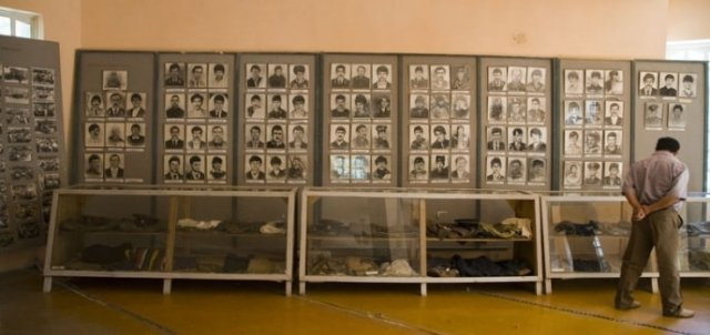 Exposition «The Hall of glory, war and work». Portraits and personal things of inhabitants Farkhar, victims in civil war 1991 - 1996.