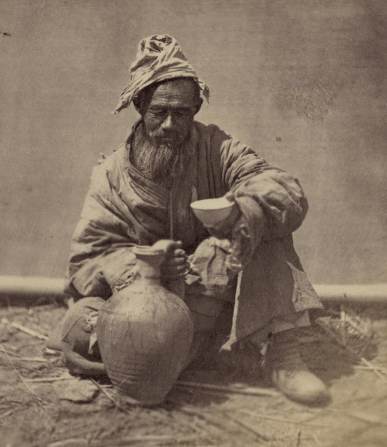 City of Khudjand. Water carrier.