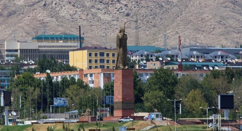 Statue Ismail Somoni  in Khudjand.