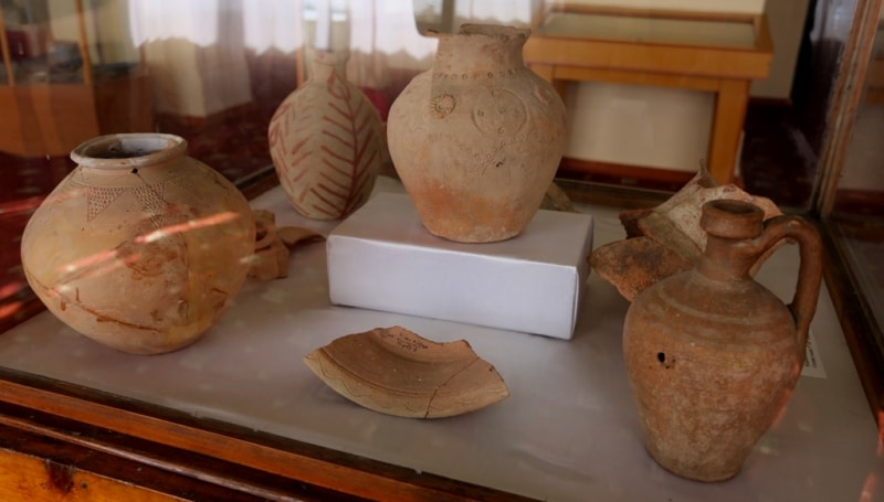 Artefacts from site of ancient settlement Sarazm.
