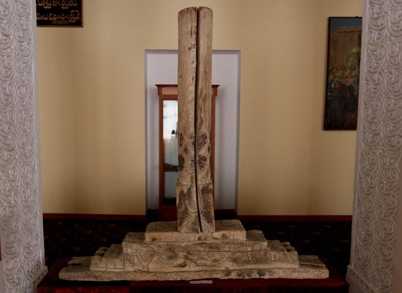 Wooden column.