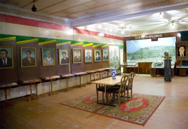 Экспозиция «Работники медицины и врачи Таджикистана и их труды».
