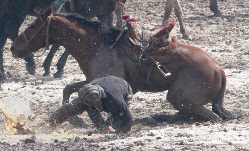 Упасть с лошади в такой передряге очень просто.