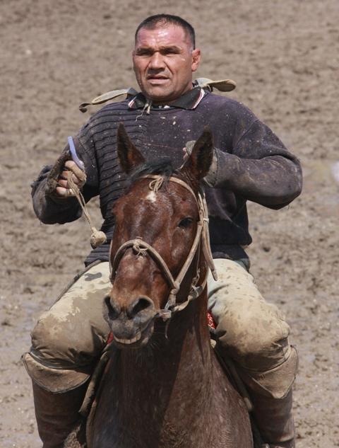Специальной породы лошадей для козлодрания нет, главное - массивность, резвость и ум коня.